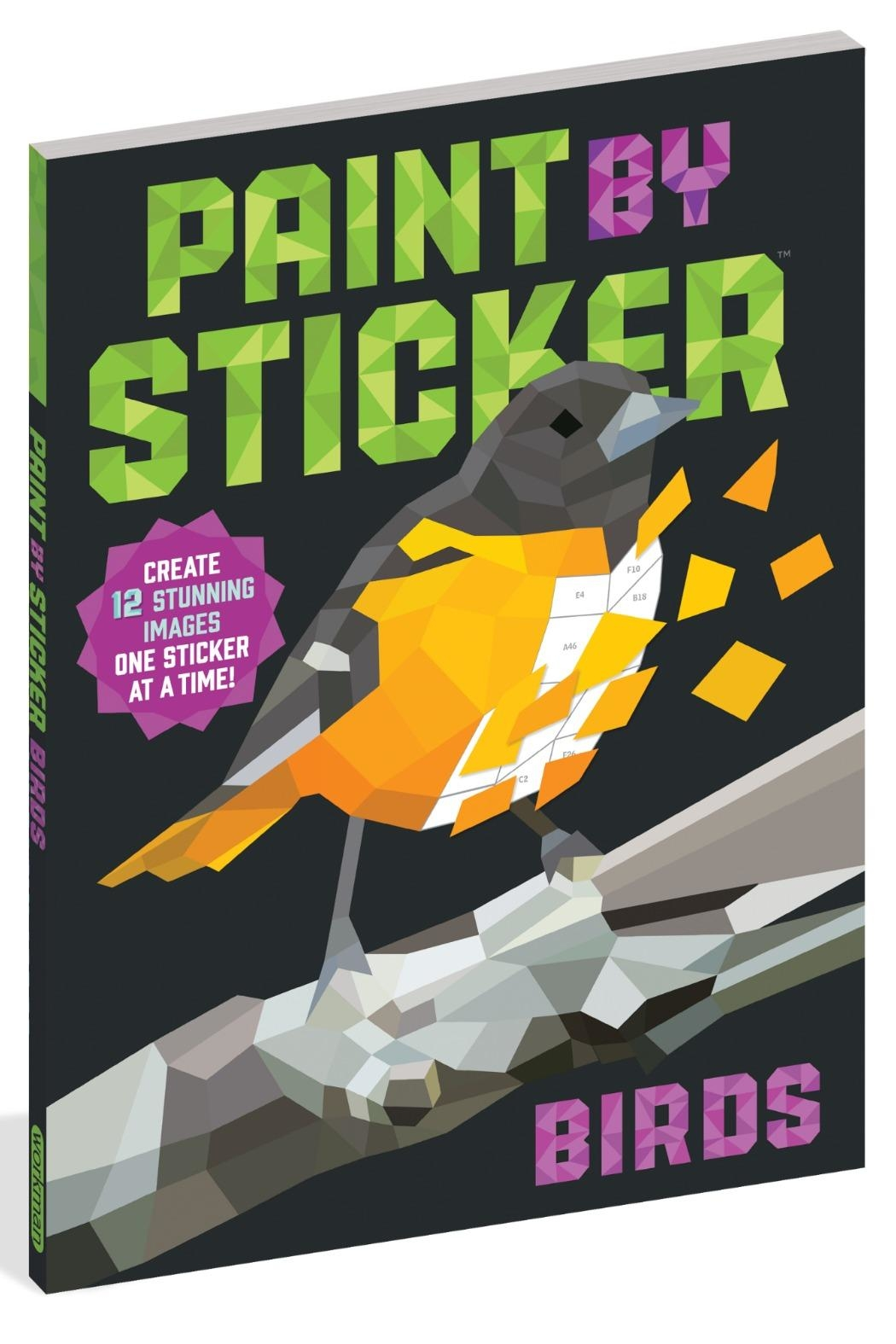 Workman Publishing Paint-By-Sticker Birds - Main Image