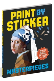 Workman Publishing Paint-By-Sticker Masterpieces - Front cropped