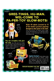 Workman Publishing Papertoy Glowbots - Front full body