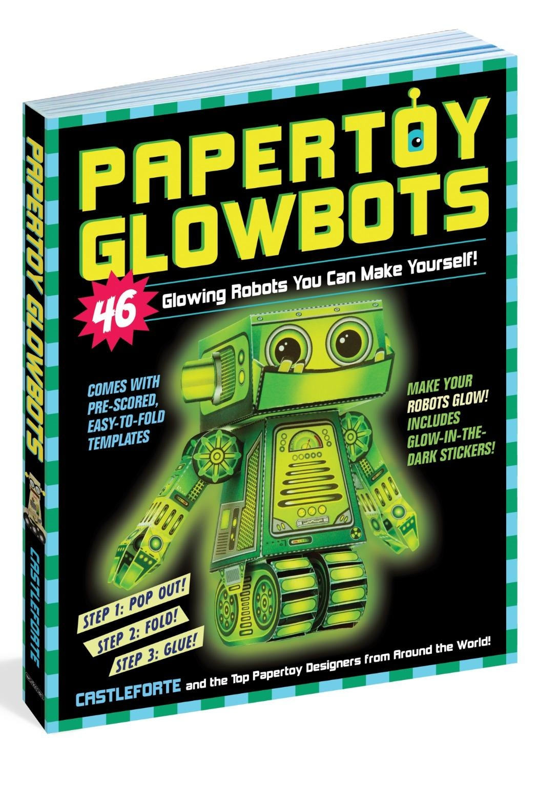 Workman Publishing Papertoy Glowbots - Main Image