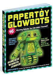 Workman Publishing Papertoy Glowbots - Front cropped