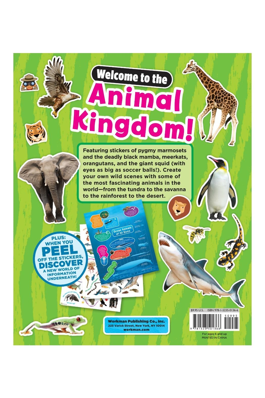 Workman Publishing Sticky Facts Animals - Back Cropped Image