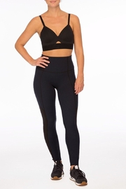 Spanx Mesh-Panel Sports Bra - Back cropped