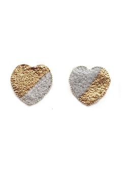Shoptiques Product: Gold Concrete Hearts