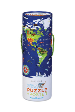 Crocodile Creek World Animal 200 Piece Puzzle & Poster - Alternate List Image