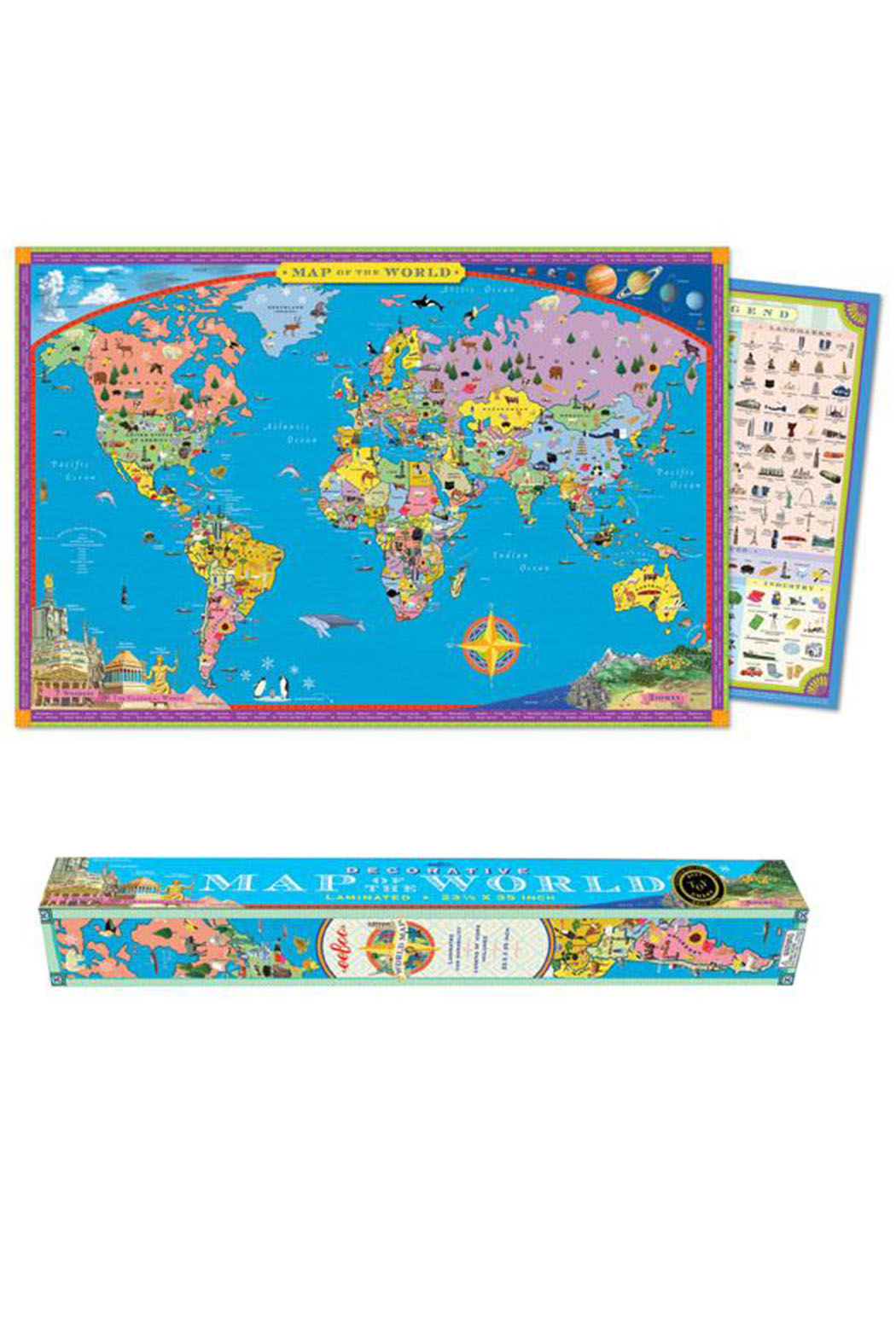 Eeboo World Map - Front Full Image