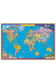Eeboo World Map - Front cropped