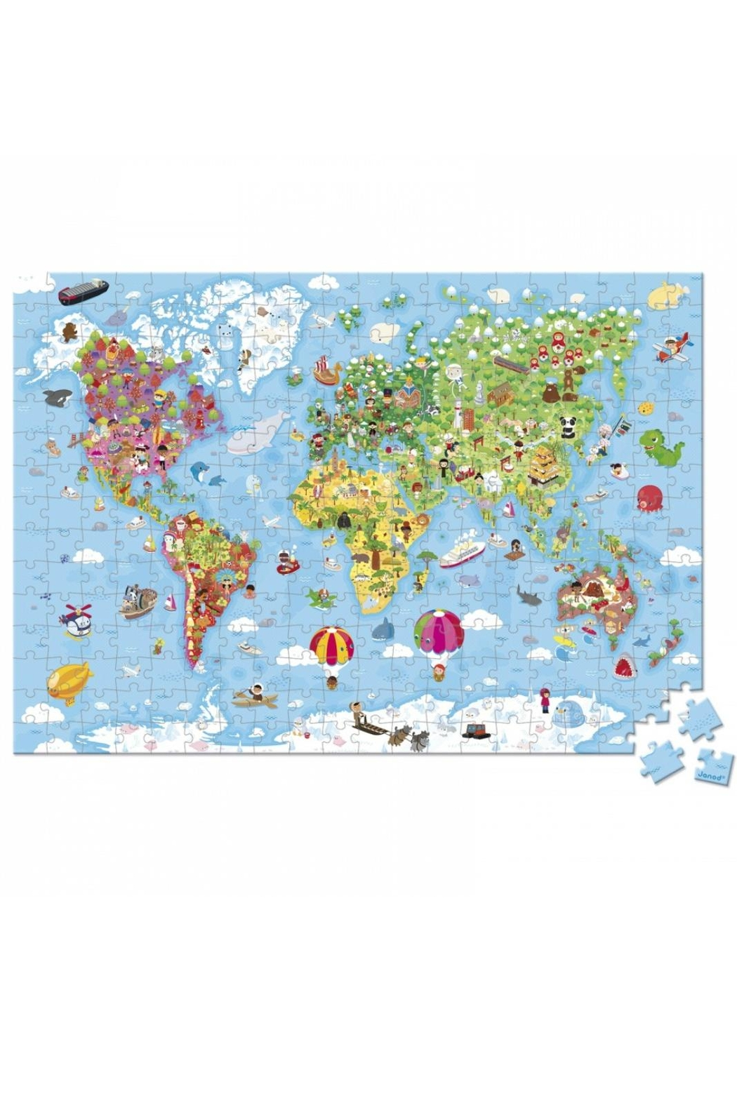 Janod World Map Puzzle - Front Full Image