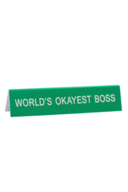 About Face Designs World's Okayest Boss Sign - Product Mini Image