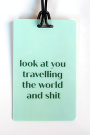 He Said, She Said World Travel Luggage Tag - Product Mini Image