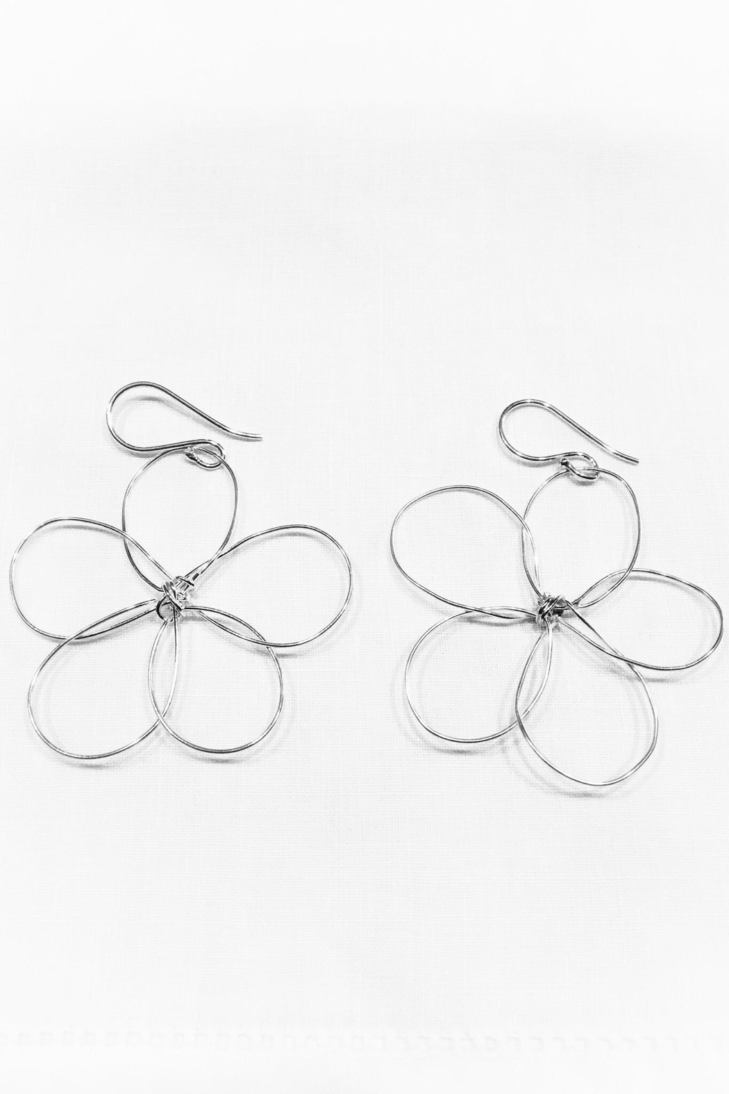 WorldFinds Outlined Flower Earrings - Main Image