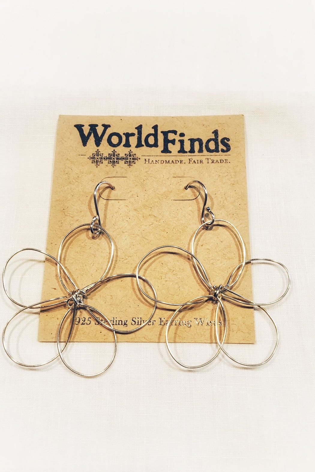 WorldFinds Outlined Flower Earrings - Front Full Image