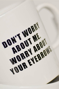 MERIWETHER Worry Eyebrows Mug - Alternate List Image
