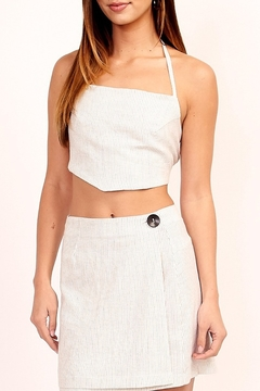 Olivaceous Woven Bandanna Top - Product List Image