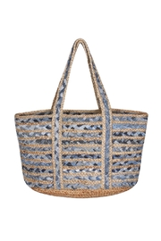 America & Beyond Woven Beach Bag - Front cropped