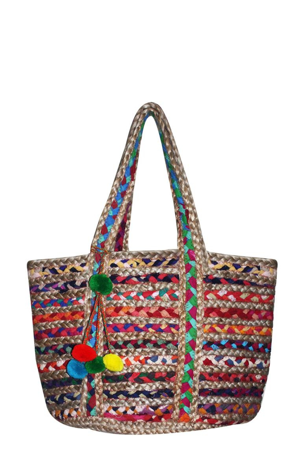 America & Beyond Woven Beach Bag - Front Cropped Image