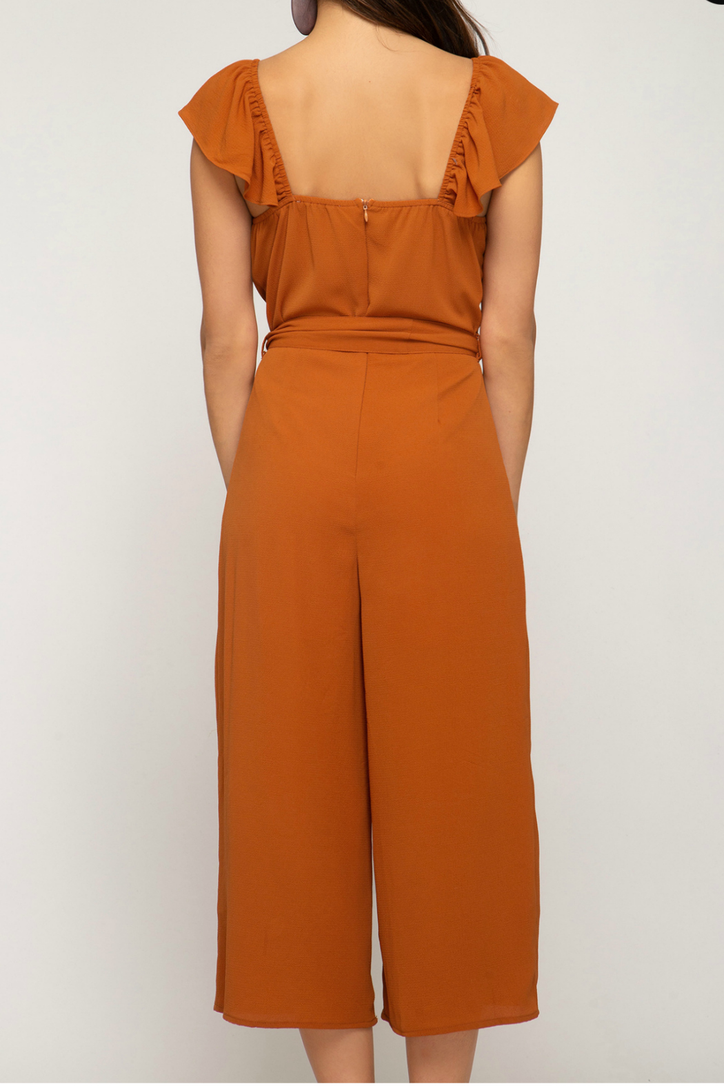 She + Sky Woven Culotte Jumpsuit - Front Full Image