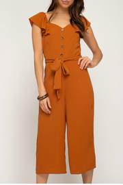 She + Sky Woven Culotte Jumpsuit - Front cropped