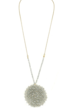 Art Box Woven Faceted Glass Bead Cluster Pendant Necklace - Alternate List Image