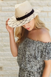 Mud Pie Woven Fedora - Front full body