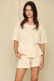 By Together  Woven Gauze Elastic Shorts - Product Mini Image