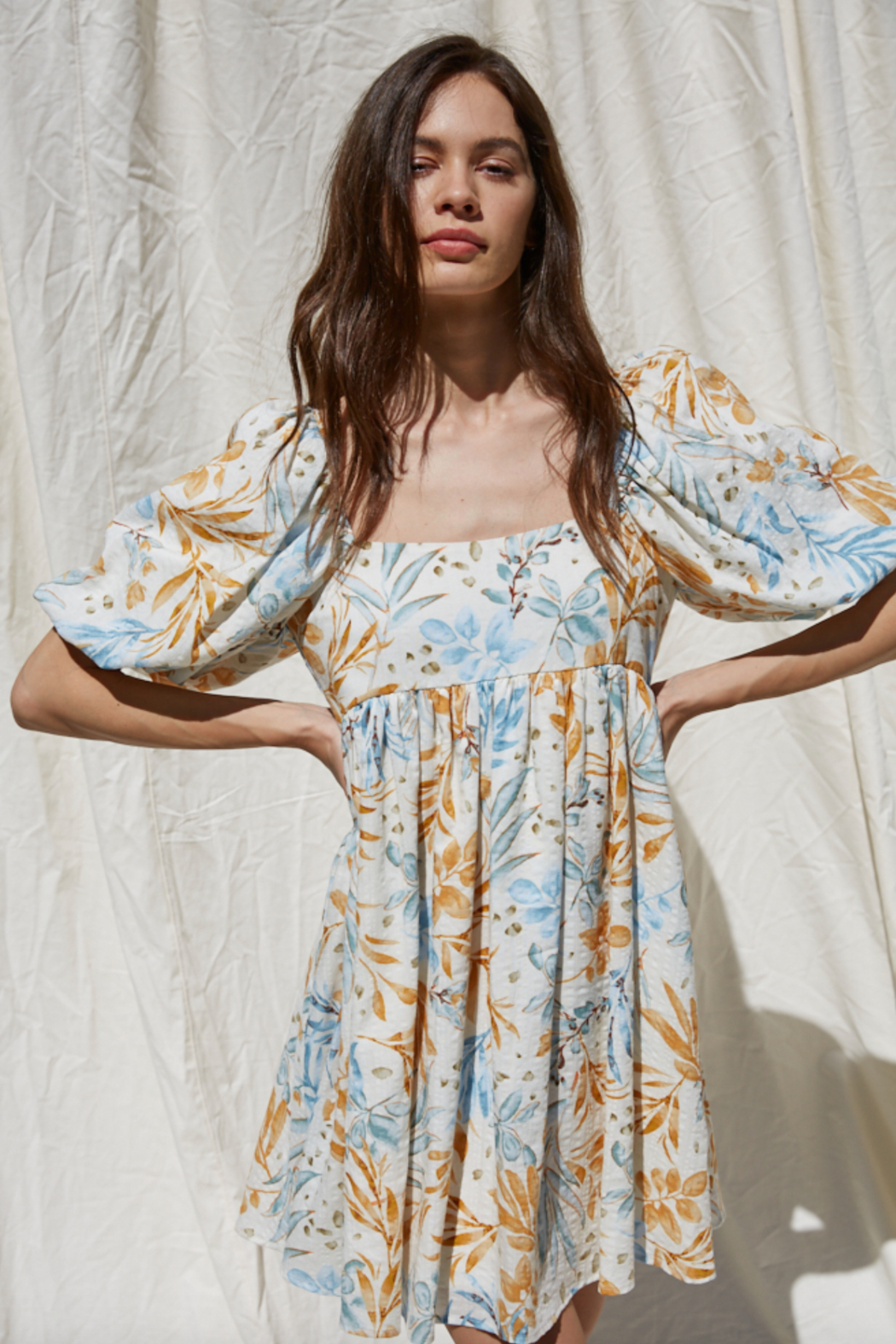By Together Woven Gauze Printed Dress - Front Full Image