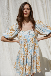 By Together Woven Gauze Printed Dress - Front full body