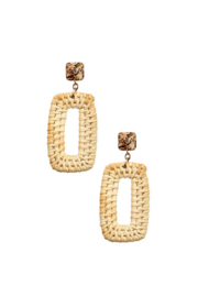 Andrea Bijoux Woven Gem Dangle Earrings - Product Mini Image