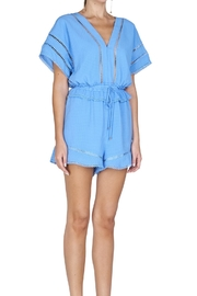 Adelyn Rae Woven Gingham Romper - Product Mini Image