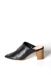 993 Woven-Leather High-Heel Mule - Product Mini Image