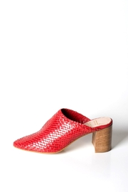 993 Woven-Leather High-Heel Mules - Product Mini Image