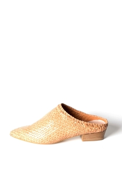 993 Woven-Leather Mid-Heel Tan - Product List Image