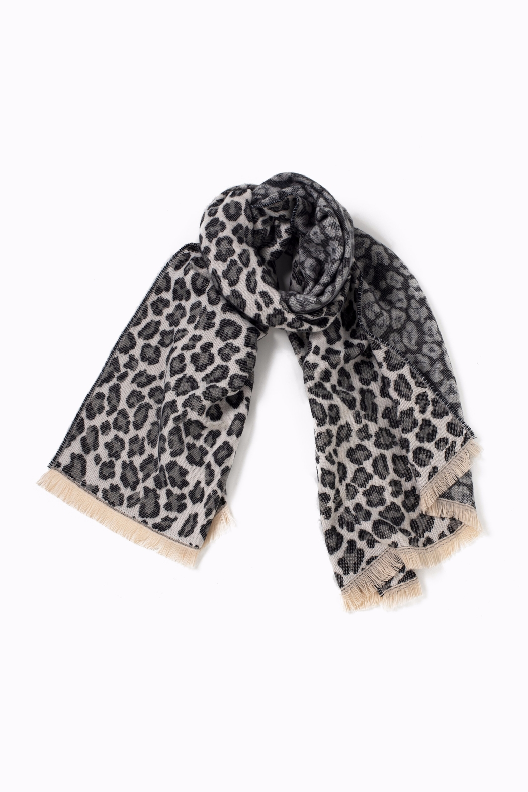 Look by M Woven Leopard Scarf - Front Cropped Image