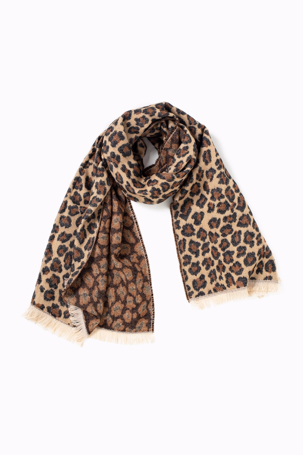 Look by M Woven Leopard Scarf - Main Image