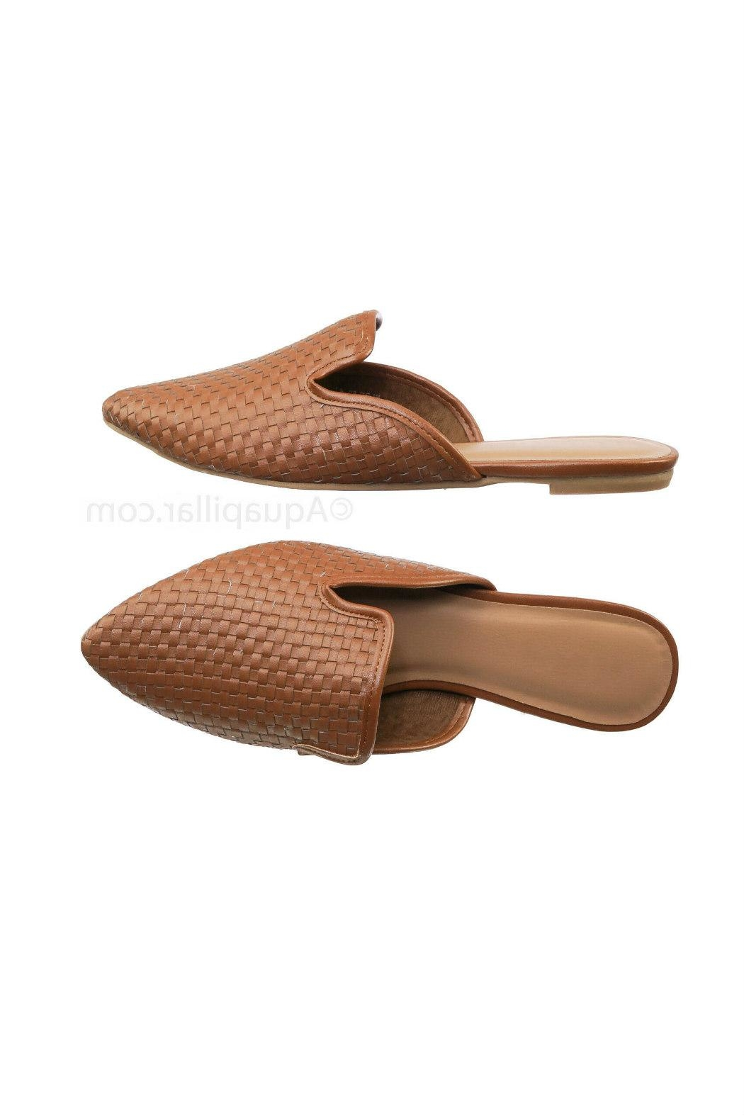 Bamboo Woven Loafer Slide - Front Cropped Image