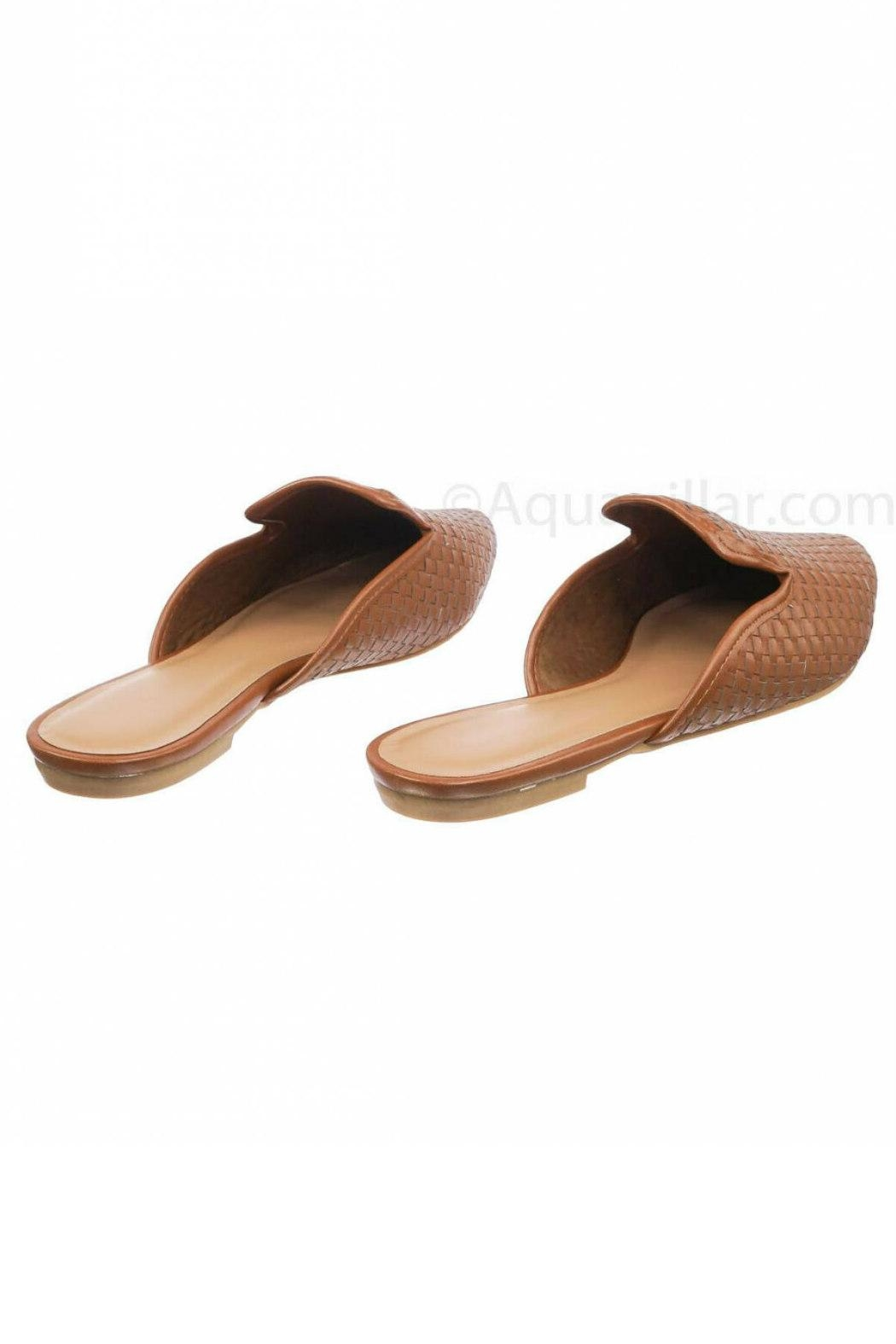 Bamboo Woven Loafer Slide - Side Cropped Image