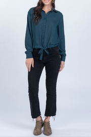 Everly Woven long sleeve top - Product Mini Image