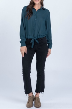 Everly Woven long sleeve top - Product List Image