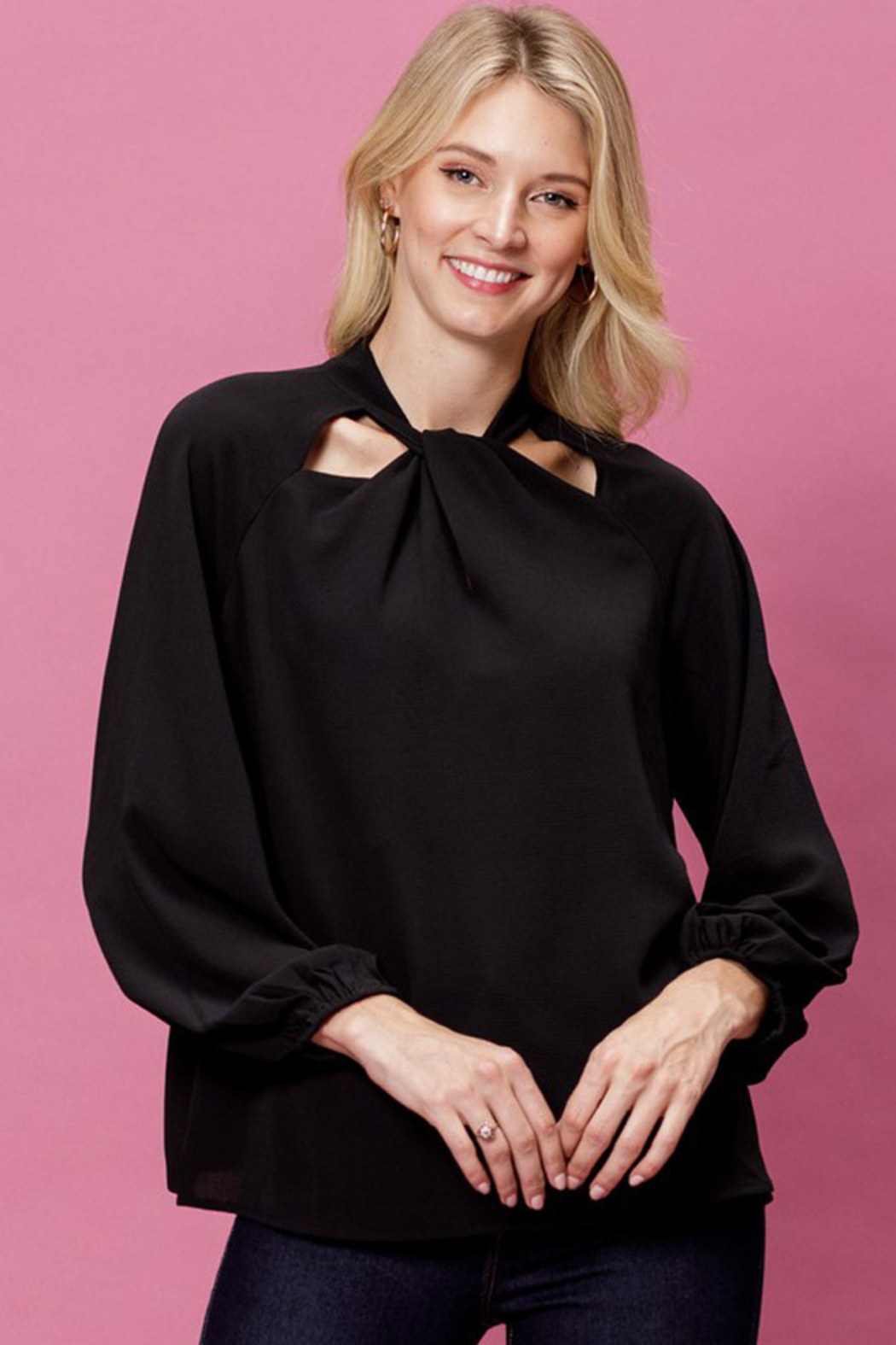 Mittoshop Woven Long Sleeve Top - Side Cropped Image