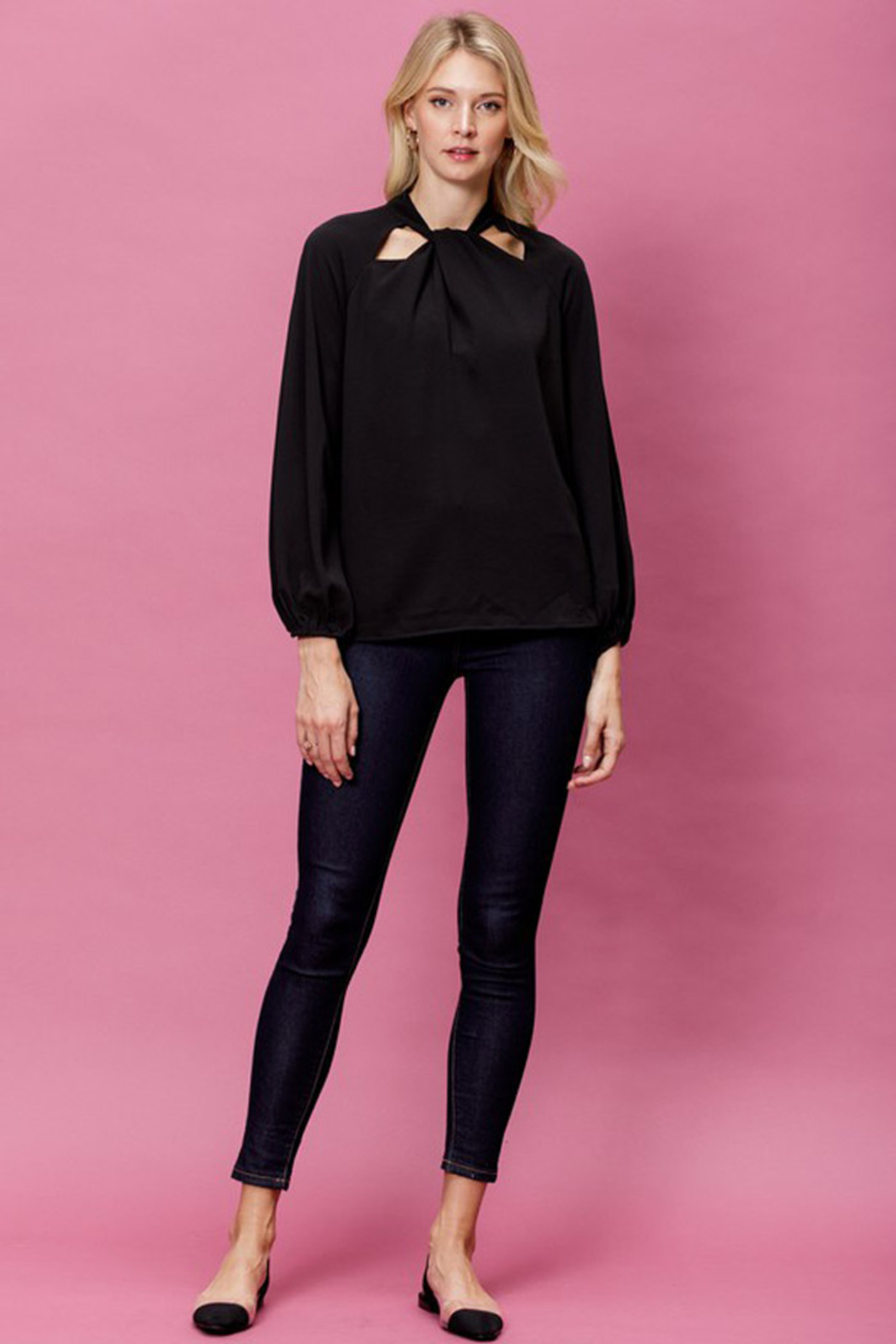 Mittoshop Woven Long Sleeve Top - Front Full Image