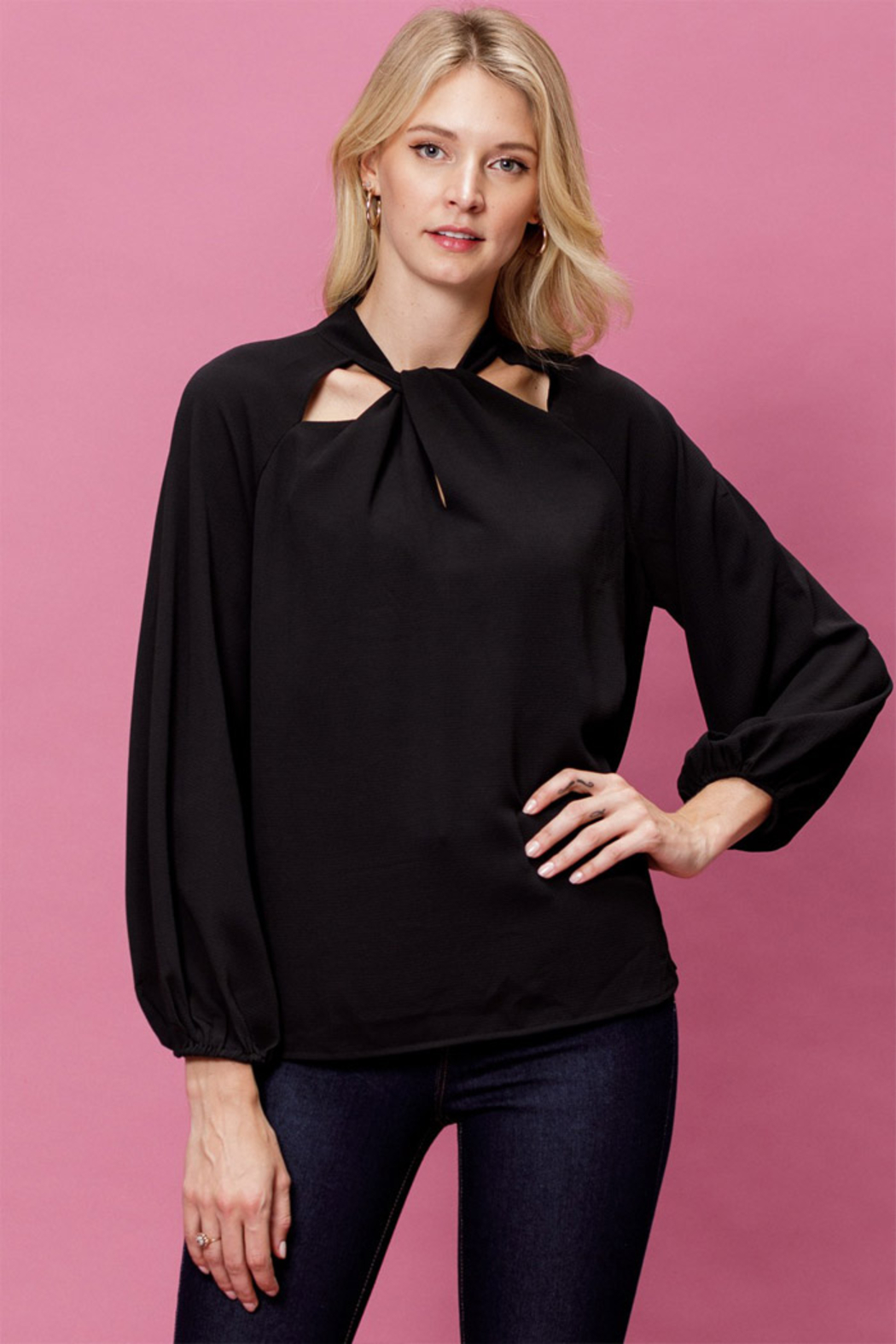 Mittoshop Woven Long Sleeve Top - Main Image