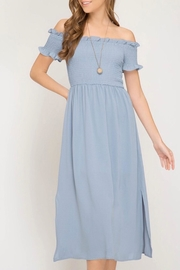 She + Sky Woven Midi Dress - Product Mini Image