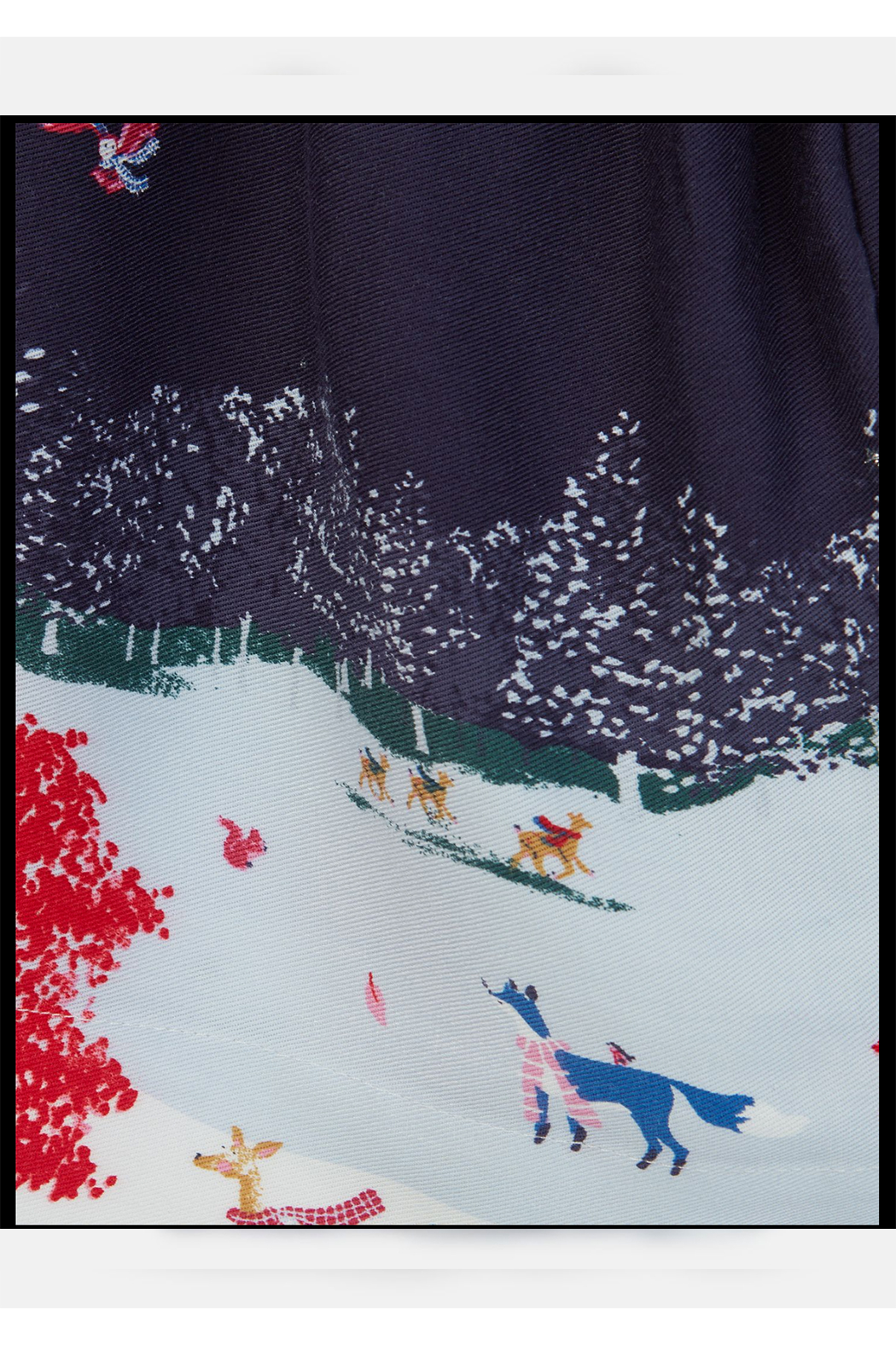 Joules Woven Mix Border Dress - Side Cropped Image