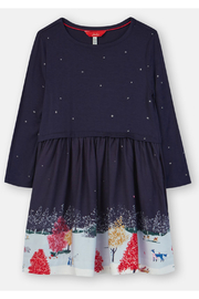 Joules Woven Mix Border Dress - Front cropped
