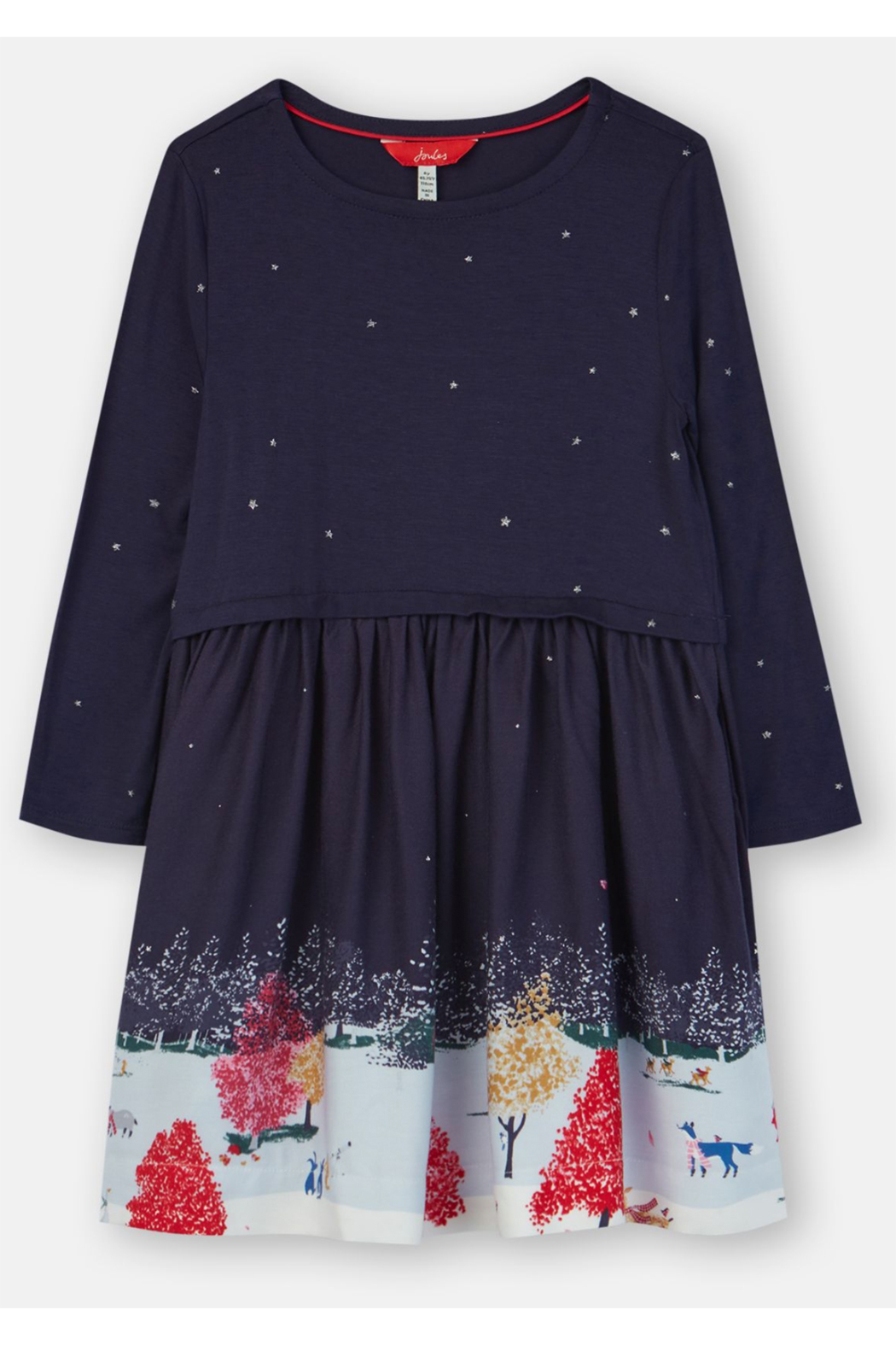 Joules Woven Mix Border Dress - Main Image