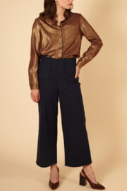 FRNCH Woven Peg Pants - Side cropped