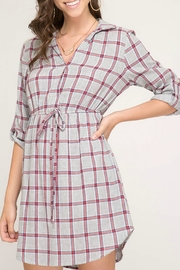 She + Sky Woven Plaid Dress - Product Mini Image