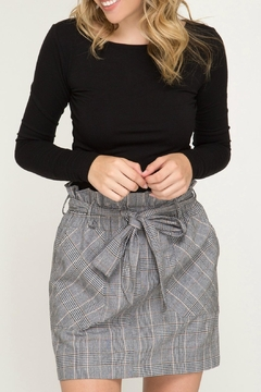 Shoptiques Product: Woven Plaid Skirt