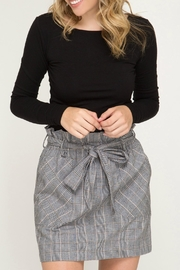 She + Sky Woven Plaid Skirt - Product Mini Image