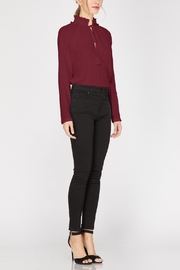 Adelyn Rae Woven Pleated Blouse - Other